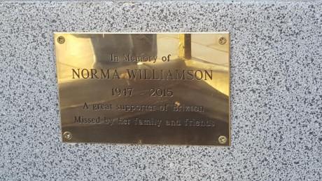 Norma's plaque
