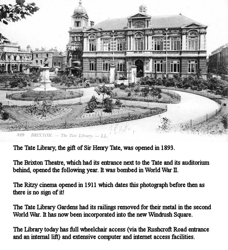 Edwardian Tate Library, Brixton