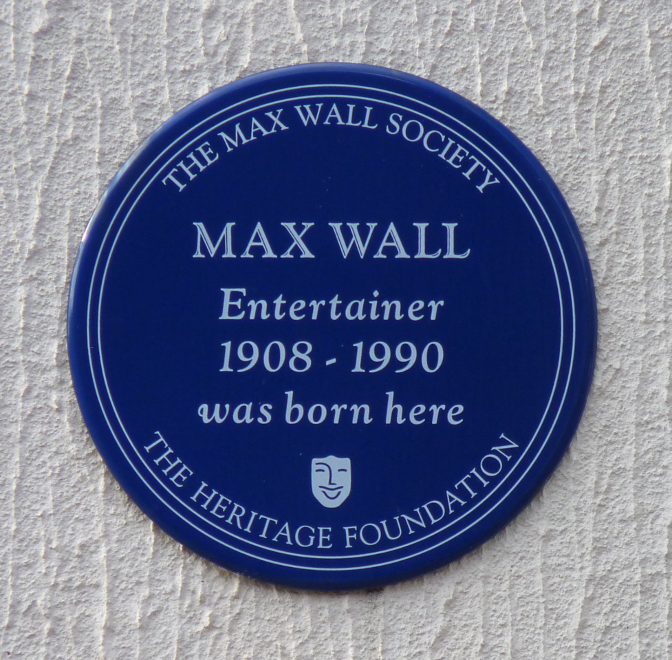 Plaque for Max Wall