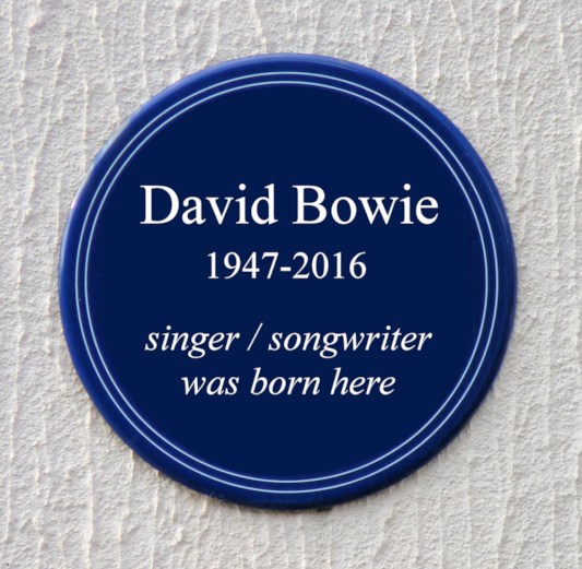 Fictional David Bowie plaque