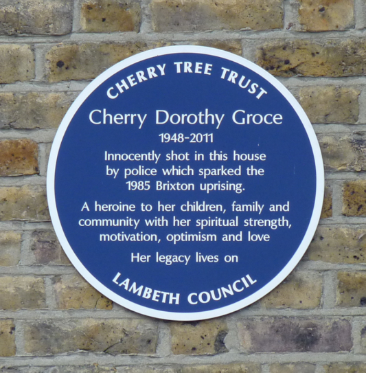 Plaque for Cherry Groce