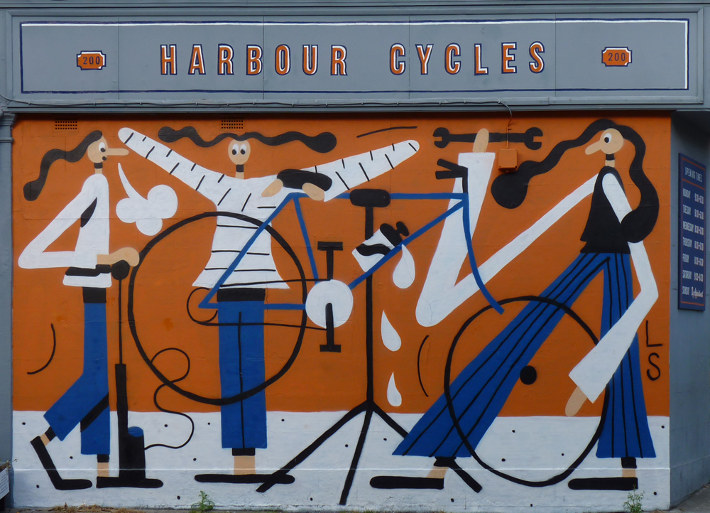 harbour cycles mural