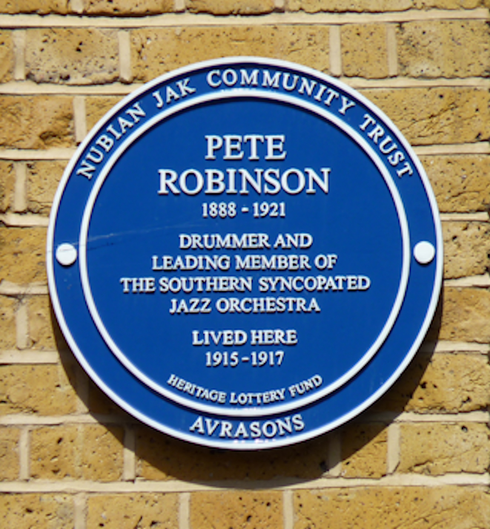 Plaque for Pete Robinson